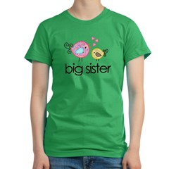 MASTER whimsy birds front no personalization Women's Fitted T-Shirt (dark)