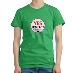 Yes It's Fas Women's Fitted T-Shirt (dark)