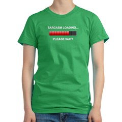 Sarcasm Loading Women's Fitted T-Shirt (dark)