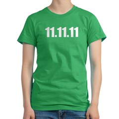 11.11.11 Women's Fitted T-Shirt (dark)