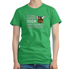 Flying Hamster of DOOM Women's Fitted T-Shirt (dark)