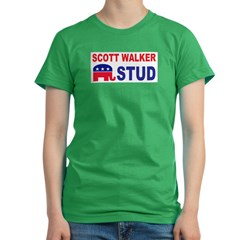 Scott Walker stud Women's Fitted T-Shirt (dark)