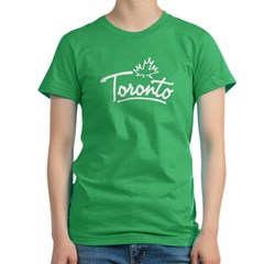 Toronto Leaf Scrip Women's Fitted T-Shirt (dark)