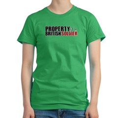 Property of a British Soldier - Women's Fitted T-Shirt (dark)