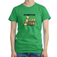 I Lean Right 19 Women's Fitted T-Shirt (dark)