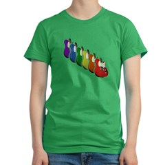 Guitar Rainbow Women's Fitted T-Shirt (dark)