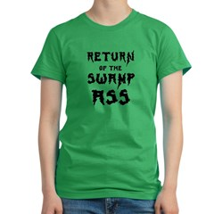 Swamp Ass Women's Fitted T-Shirt (dark)
