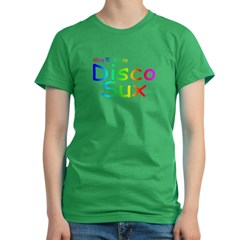AK Disco Sux Women's Fitted T-Shirt (dark)