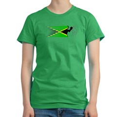 Boxing - Jamaica Women's Fitted T-Shirt (dark)
