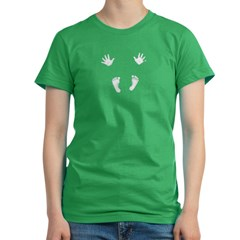 More Baby Hands and Feet Women's Fitted T-Shirt (dark)