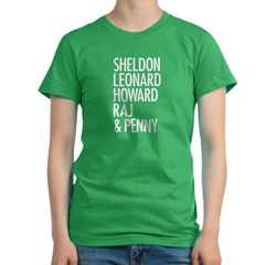 Sheldon and Friends White Women's Fitted T-Shirt (dark)