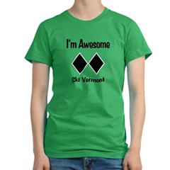 I'm Awesome Ski Vermon Women's Fitted T-Shirt (dark)