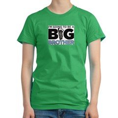 Im Going To Be A Big Brother Women's Fitted T-Shirt (dark)
