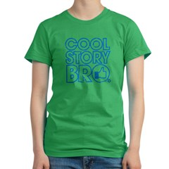 Cool Story Bro Women's Fitted T-Shirt (dark)