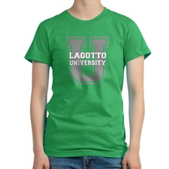 Lagotto UNIVERSITY Women's Fitted T-Shirt (dark)