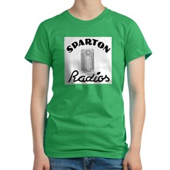 Sparton Radios Women's Fitted T-Shirt (dark)