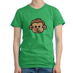 Monkey Face Women's Fitted T-Shirt (dark)
