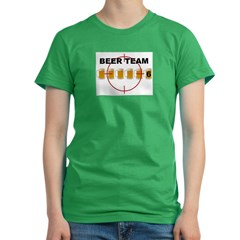 Beer Team 6 Logo Women's Fitted T-Shirt (dark)