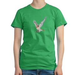 striking Red-tail Hawk Women's Fitted T-Shirt (dark)