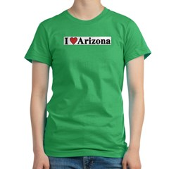 I Love Arizona Women's Fitted T-Shirt (dark)