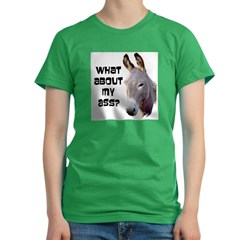 What About My Ass? Women's Fitted T-Shirt (dark)