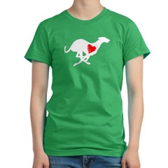 Greyhound Women's LS Dark T-Shirt/Hearthound Women's Fitted T-Shirt (dark)