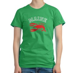 Maine Lobster Women's Fitted T-Shirt (dark)
