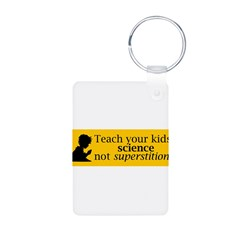 Teach your kids science Aluminum Photo Keychain