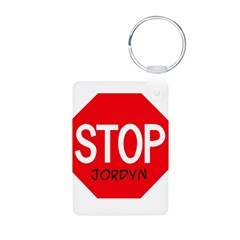 Stop Jordyn Aluminum Photo Keychain