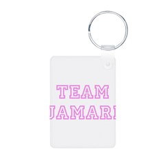 Pink team Jamari Aluminum Photo Keychain