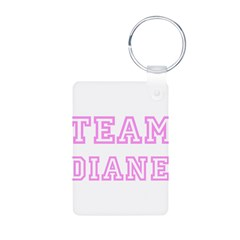 Pink team Diane Aluminum Photo Keychain