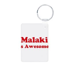 Malaki is Awesome Aluminum Photo Keychain