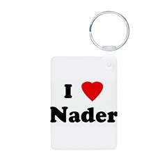 I Love Nader Aluminum Photo Keychain