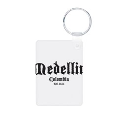 Medellin1 Aluminum Photo Keychain