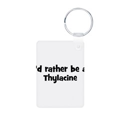 Rather be a Thylacine Aluminum Photo Keychain