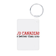 Half Canadian Aluminum Photo Keychain