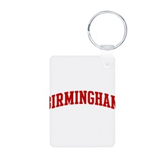 BIRMINGHAM (red) Aluminum Photo Keychain