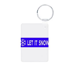 Think Snow Aluminum Photo Keychain