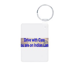 Native American-BS Aluminum Photo Keychain