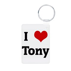 I Love Tony Aluminum Photo Keychain