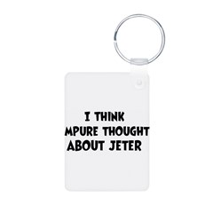 Jeter (impure thoughts} Aluminum Photo Keychain