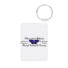 Butterfly Awareness 1 (Rheumatoid Arthritis) Aluminum Photo Keychain