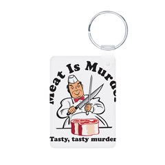 Meat Is Murder Aluminum Photo Keychain
