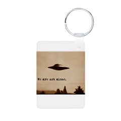 X-Files - We Are Not Alone Aluminum Photo Keychain