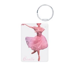 Giselle Ballet Oval Aluminum Photo Keychain
