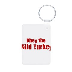 Obey the Wild Turkey Aluminum Photo Keychain