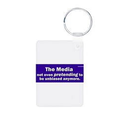 the media not even pretending to be unbiased anymo Aluminum Photo Keychain