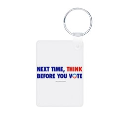 """Think 2012"" Aluminum Photo Keychain"