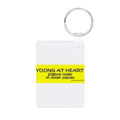 Young At Heart. Slightly older in other place Aluminum Photo Keychain