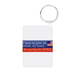 Keep the Change Aluminum Photo Keychain
